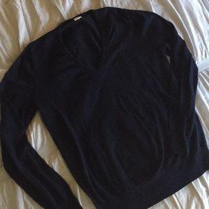 J. Crew Vneck navy pullover sweater